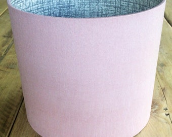 Blush Fabric Lampshade Lined with Scion 'Khadi' Paper