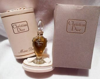 Vintage Christian Dior Miss Dior Baccarat Crystal Amphora Never Opened Pure Perfume Bottle Complete, c. 1947 - 1956