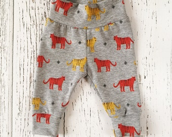 Baby leggings, baby boy leggings, baby joggers, tiger baby leggings, baby outfit, baby clothing