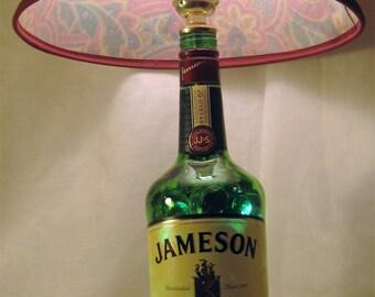 Lamp made from Jameson Whiskey bottle