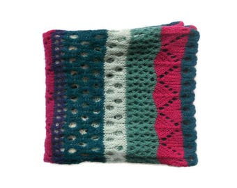 winter accessories knit multicolor scarf wool knitted colorful scarf