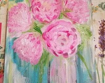 Pink and Blue Painting