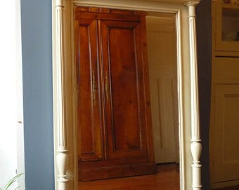 Large Painted Antique French Mirror