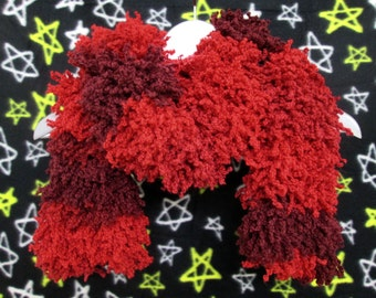 Furry Monster Scarf - Red Shades