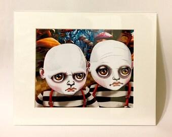 "The Fat Boys (Tweedle Dee and Tweedle Dum, from Tim Burton's Alice in Wonderland) 11x14"" Art Print by deShan"