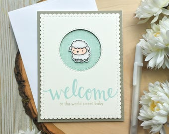 Baby Shower Card, Handmade Card, Greeting Card, Its a Boy, Woodland Baby Shower Card, Baby Cards, Greeting Cards, Baby Boy Card, Farm Animal