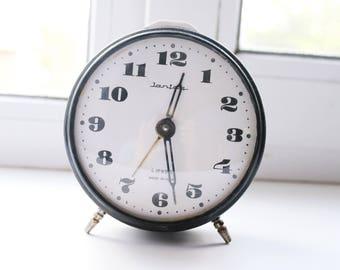 NOT WORKING Shabby chic Vintage Rare Alarm Clock - Soviet Mechanical Alarm Clock Jantar - Home Decor - Vintage Decor