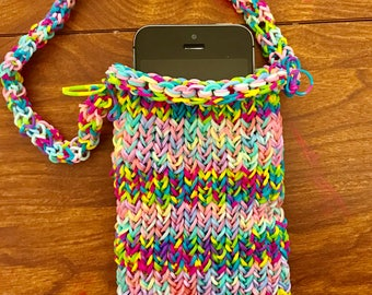 Pouch Rainbow Loom Purse Cell Phone Carrier
