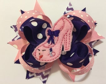 Loopy Hairbow with Prom Shoe Feltie