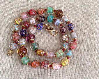 1950's Murano bead necklace.