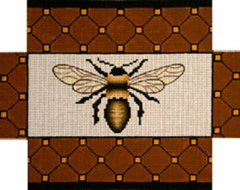 Needlepoint Handpainted Canvas BRICK Cover Amanda Lawford BEE 13M 13x9 New Brown Yellow -Free Shipping!!!
