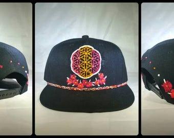 Flower Power OOAK Hat