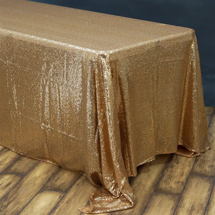 gold sequin tablecloth wedding tablecloth rectangle