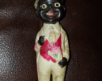 Vintage Plastic Black Americana Man