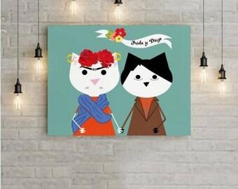 Poster. Frida y Diego.