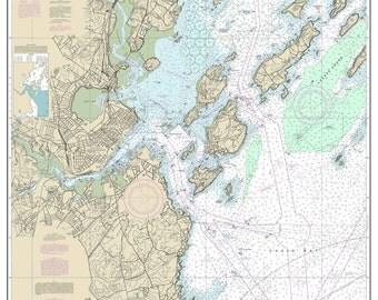 Portland Harbor & Vicinity Cape Elizabeth Great Chebeague Island - Maine 2014 Nautical Map Harbors 1 325-13292 Reprint