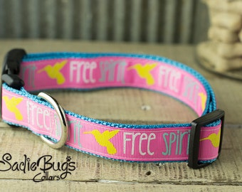 Free spirit dog collar - pink