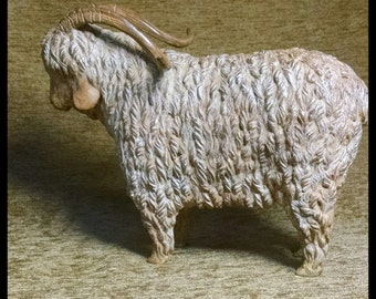 Bronze Goat Sculpture | Angora Goat Sculpture | Bronze Angora Goat