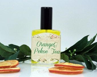 "Perfume ""Orange&Pekoe Tea"", fresh perfume, refreshing perfume, citrus perfume, fruity perfume, tea perfume"
