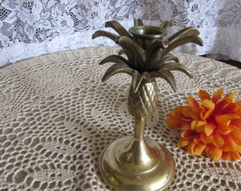 Vintage Brass Pineapple Candle Holder.