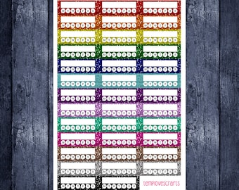 Glitter Weekly Habit Trackers for Erin condren Life Planner, Happy Planner, Plum Paper Planner