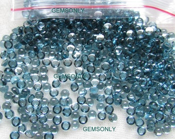 3MM Natural London Blue Topaz ROUND cabochon 3x3mm london blue topaz 3mm best gem quality dark topaz shade 3mm round good luster color