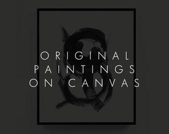 Original Paintings, Custom Canvas Art, Large Painted Art, Minimalist Paintings, Original Art, Original Abstract Painting, Custom Canvas