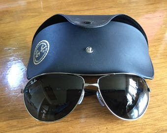 New Old Stock Vintage Rayban Aviator Sunglasses model 3393