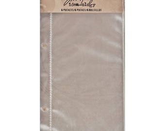 Tim Holtz Idea-ology PAGE POCKETS Tags 2 PKGS cc03