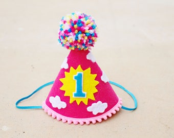Girls 1st Birthday You Are My Sunshine Party Hat - Girls First Birthday Sunshine Party Hat