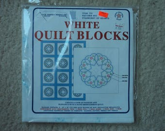 Jack Dempsey Needle Art     White Quilt Blocks  6 Per Package   Pattern #33   Item 732      2 Packages Available