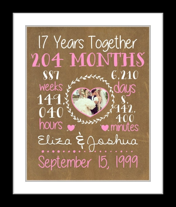 17th Anniversary Gift For Wife: A 17th Wedding Anniversary 17 Years Together Anniversary