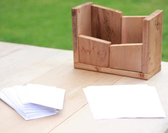Reclaimed Wood Modern Mail / Desk / Paper Organizer.