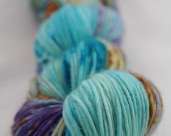 Hand-dyed yarn - superwash merino - dyed-to-order - speckles - ELFEE