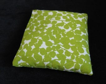 Map or pattern or paper weight (1): Green abstract floral fabric