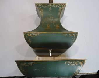 Chinoiserie Wall Fountain With Planter - Decorative