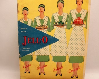 Jello Cookbook Pamphlet Softcover 1930 Advertising Ephemera Color Lithographs 23 pages