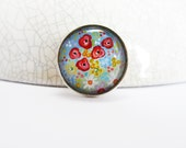 20% OFF Rainbow Wildflowers Brooch, Hand Painted Brooch, Flower Brooch, Poppy Brooch, Rainbow Brooch, Gift Idea, Pin, UK Seller