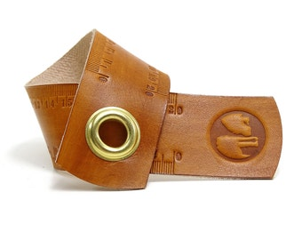 Ruler Measure tape in leather 20 cm OX RAW RULER Lion