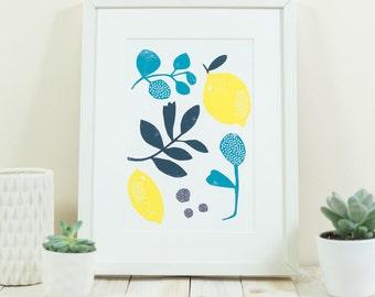 Sunny Lemons ~ A4 print