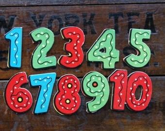 Numbers 1-10 Puzzle Pieces ~ Saalfield ~ 1963 ~ Vintage