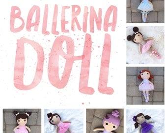 Ballerina Rag Doll, Ballerina Doll, Girl Rag Doll, Rag Doll, Gift For Girl, Personalized Rag Doll, Softie Rag Doll, heirloom rag doll