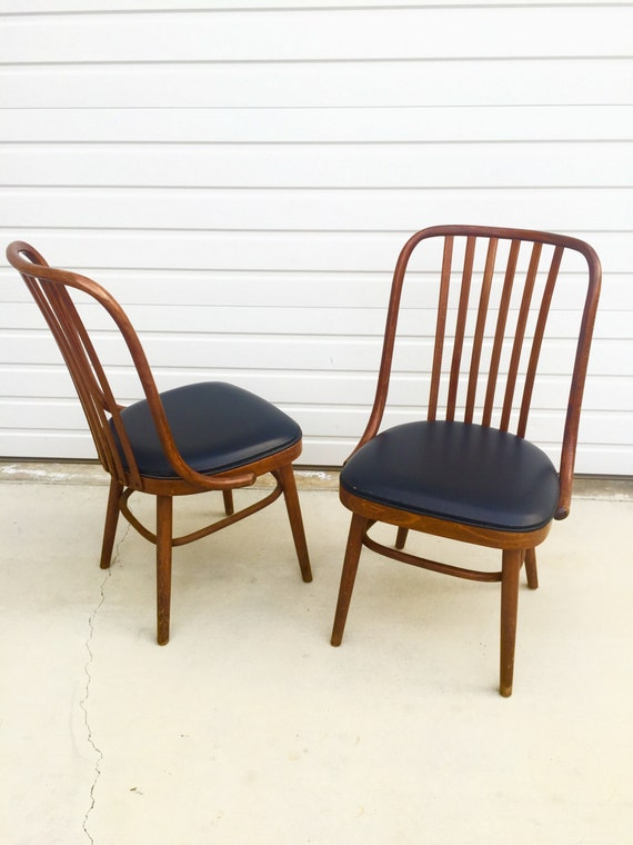 Vintage Ligna Drevounia Bentwood Dining Chairs   Set Of 4 Czechoslovakia