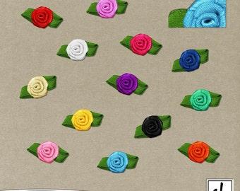 Digital Flowers - Flower Clip Art - Digital Scrapbooking Flowers - Digital Flower Embellishments - Instant Download - CU OK