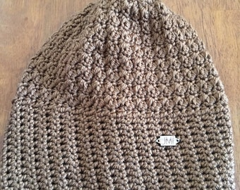The Mendon Beanie - Tan colored slouchy beanie, hat, winter accessory, perfect gift for women, teens, mom, daughter