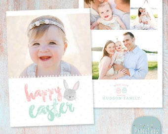 Easter Card Template - Photoshop - AE008 - INSTANT DOWNLOAD
