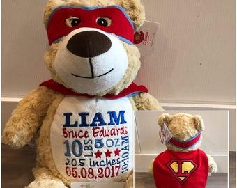 Cubbies  Hero Bear with cape, CHD, heart warrior, premie gift