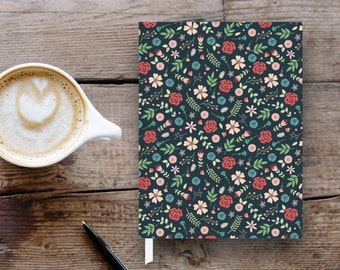 Floral pattern small hardcover journal / notebook / gift / Mother's Day