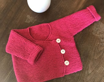 Baby's wrap-around top, baby's vest for a 3 months old, handmade knitting
