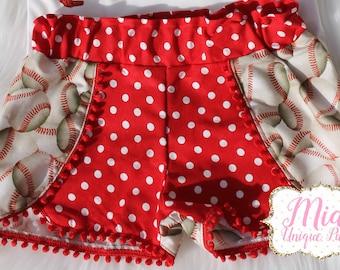 Red Baseball Shorts